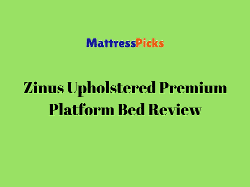 Zinus Upholstered Button Tufted Premium Platform Bed Review