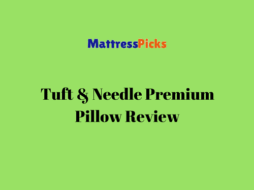Tuft & Needle Premium Pillow Review